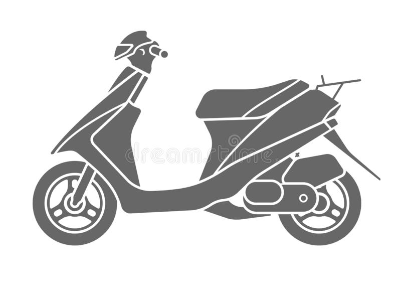 Motorcycle Scooter Black Silhouette Motorbike Icon Vector Illustration royalty free illustration
