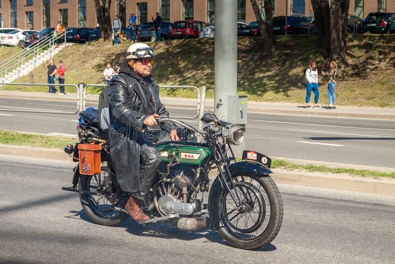 Classic Motorcycle  BSA  1915 model K  557cc royalty free stock photos