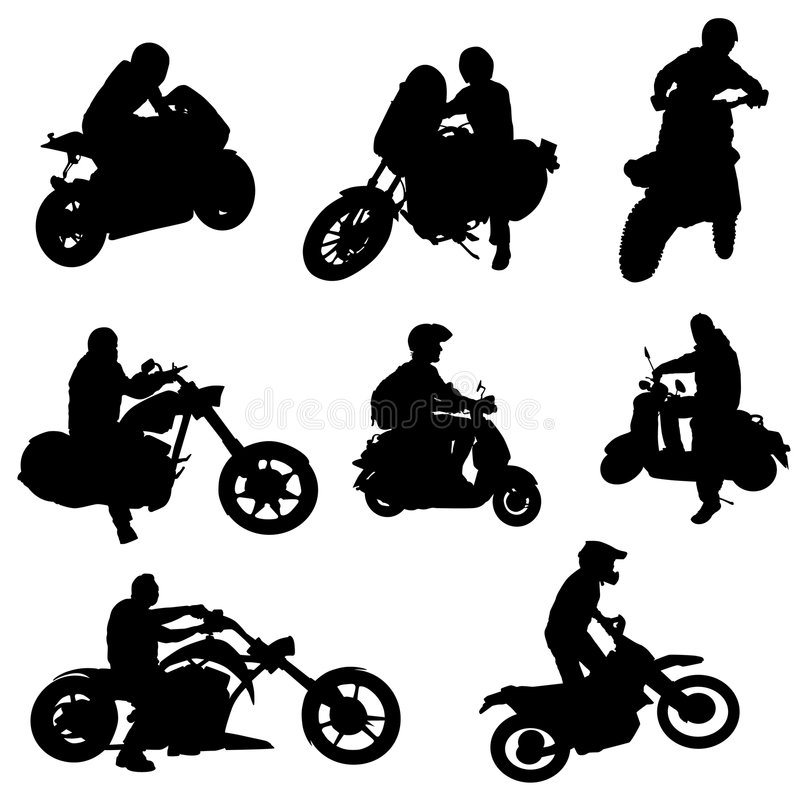 Motorcycle set vector royalty free illustration