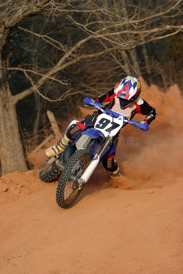 Motorcycle Slide Turn royalty free stock photography