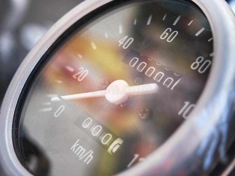 Motorcycle. spare parts and components. engine. speedometer royalty free stock photos