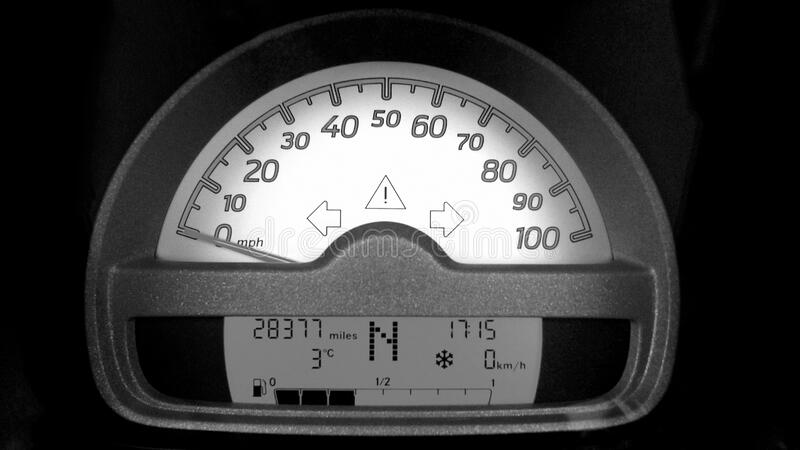 Motorcycle Speedometer at 0 royalty free stock photography