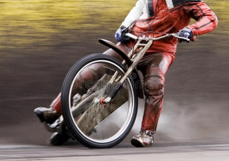 Motorcycle speedway rider royalty free stock image