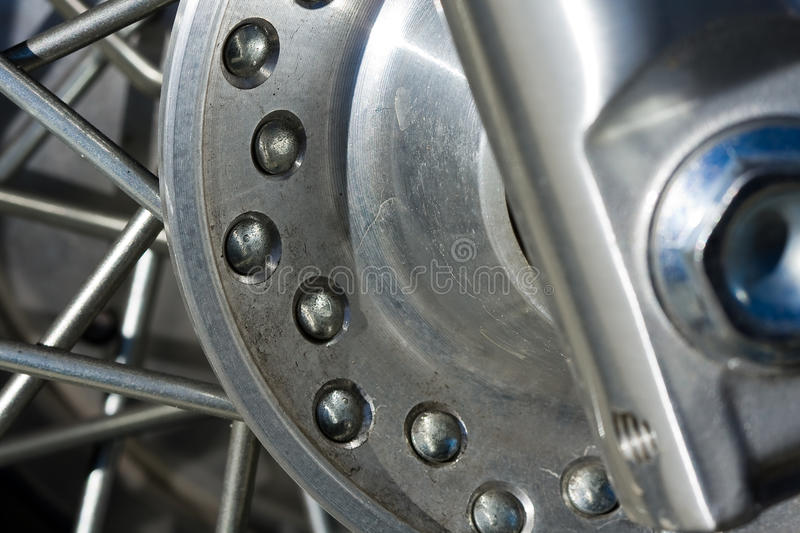 Motorcycle Spokes royalty free stock image