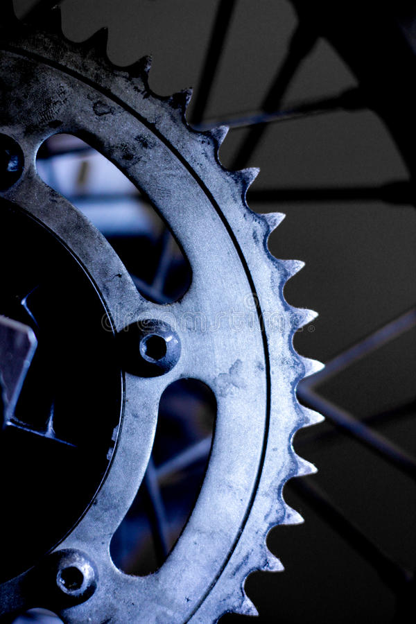 Motorcycle sprocket stock photos