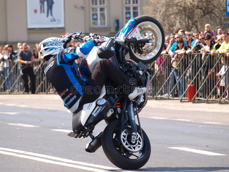Download Motorcycle Stunts, Lublin, Poland Editorial Stock Photo - Image: 24457328