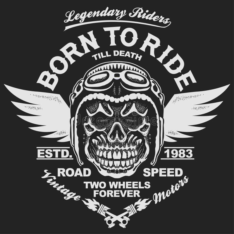 Motorcycle t-shirt graphics vector illustration