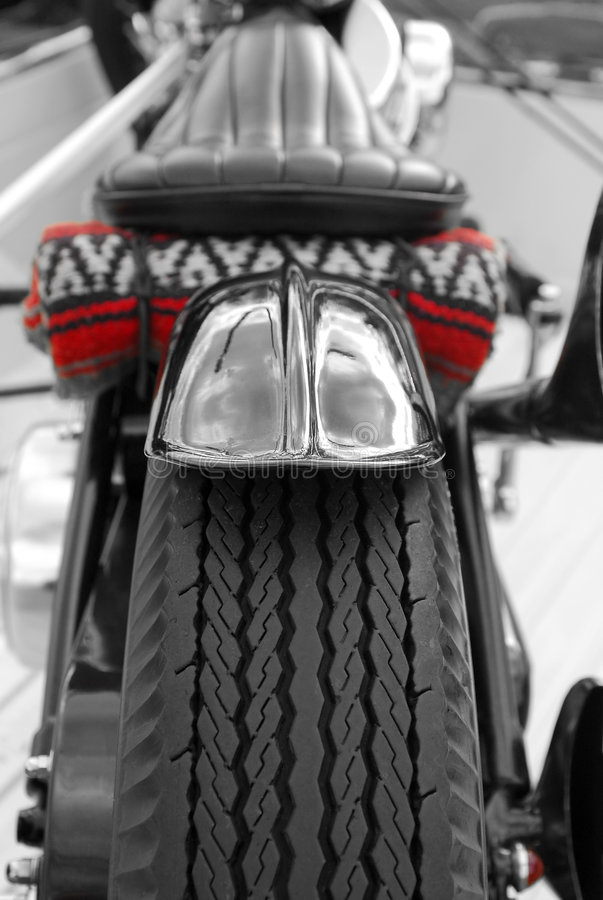 Motorcycle tire stock image