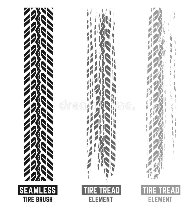 Motorcycle Tire Tracks Brush royalty free stock image