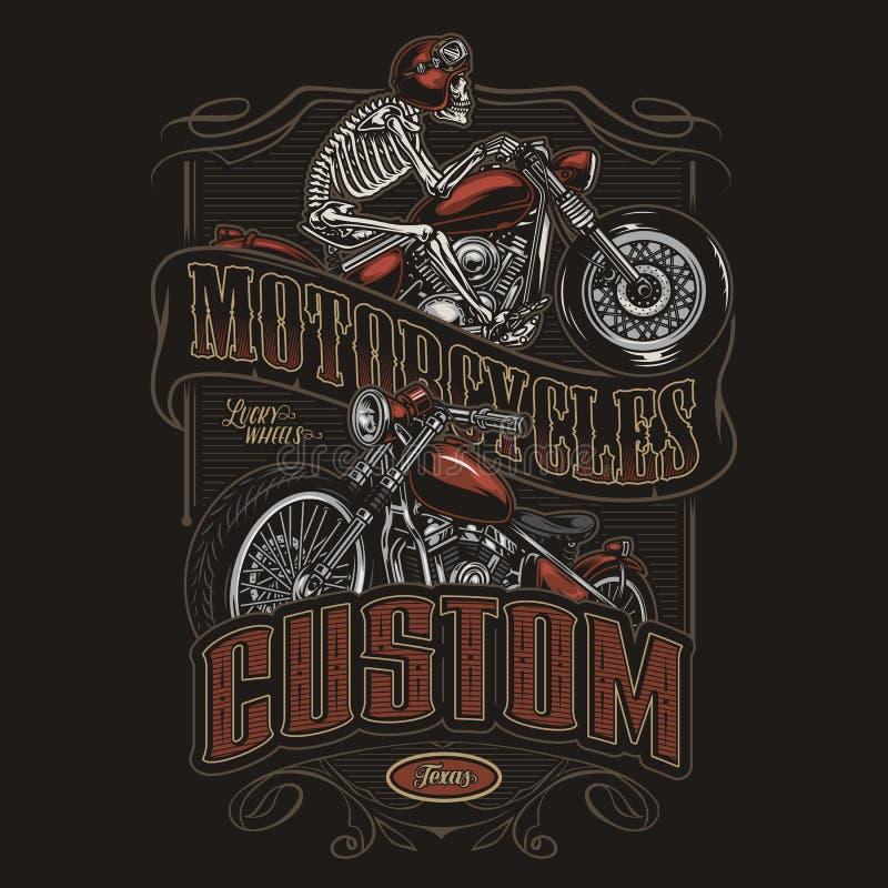 Skeleton Riding Motorcycle Stock Illustrations 99