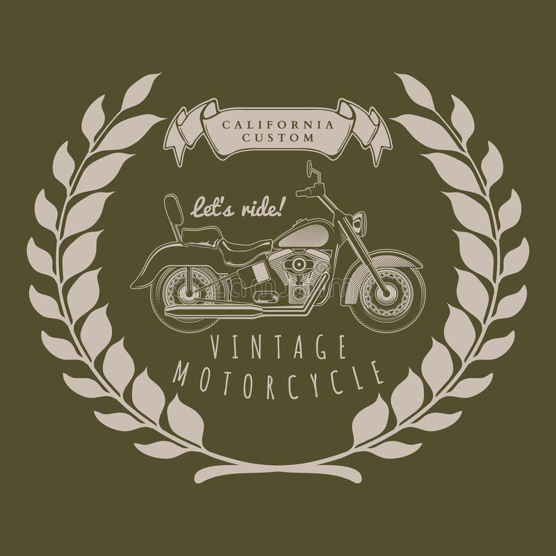 Motorcycle vintage graphics, t-shirt typography, Vintage vector. Illustration vector illustration