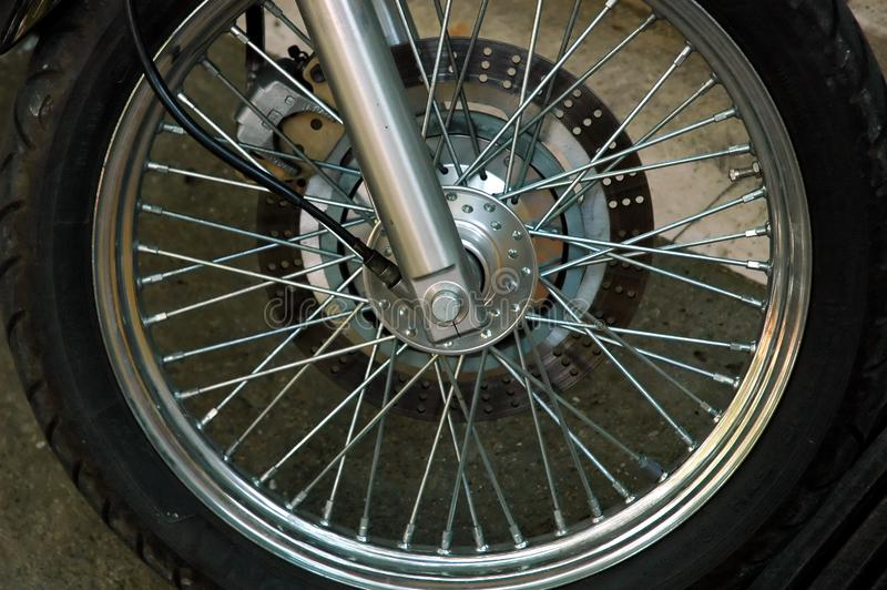 Motorcycle wheel stock photos