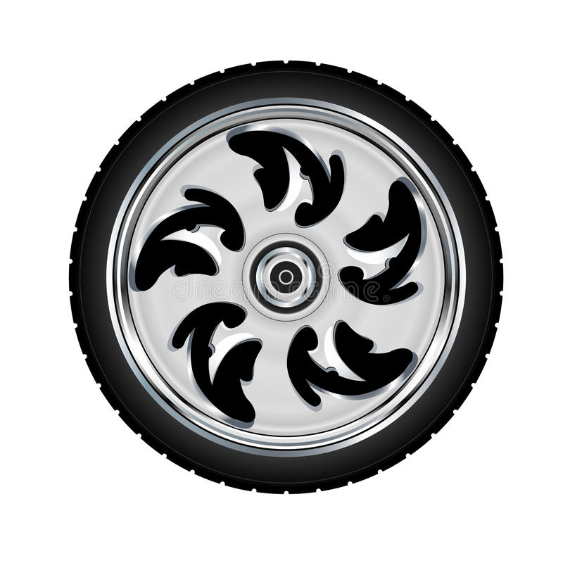Download Motorcycle wheel and tyre stock vector. Image of service - 20571518