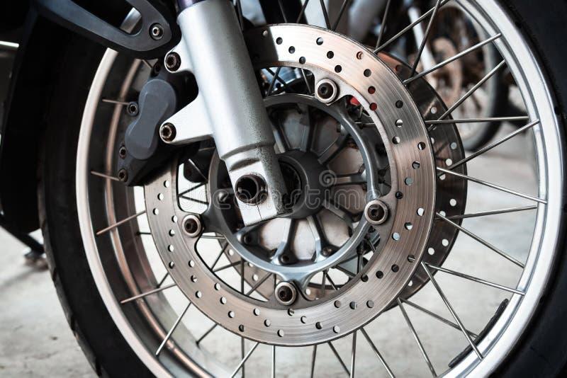 Motorcycle wheels royalty free stock photo