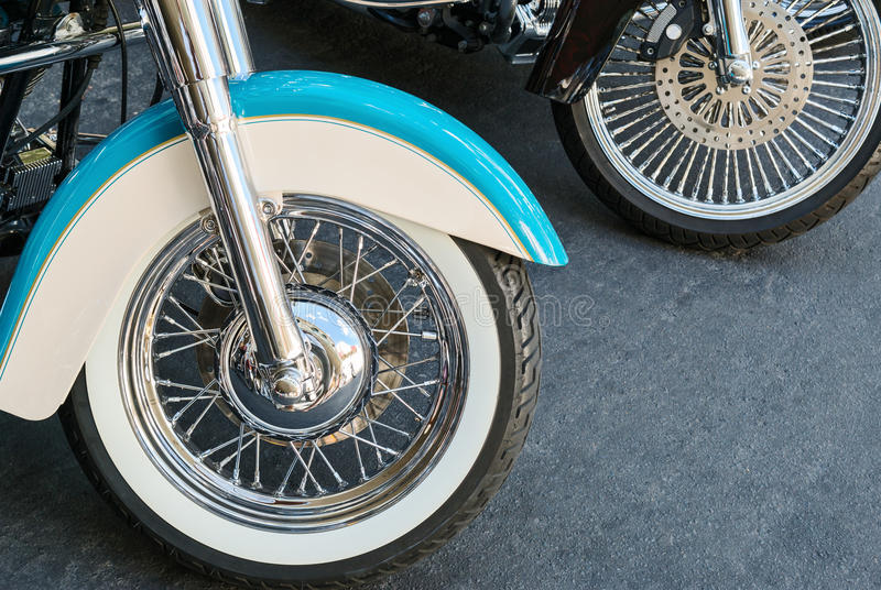 Download Motorcycle wheels stock photo. Image of fender, bike - 59956612