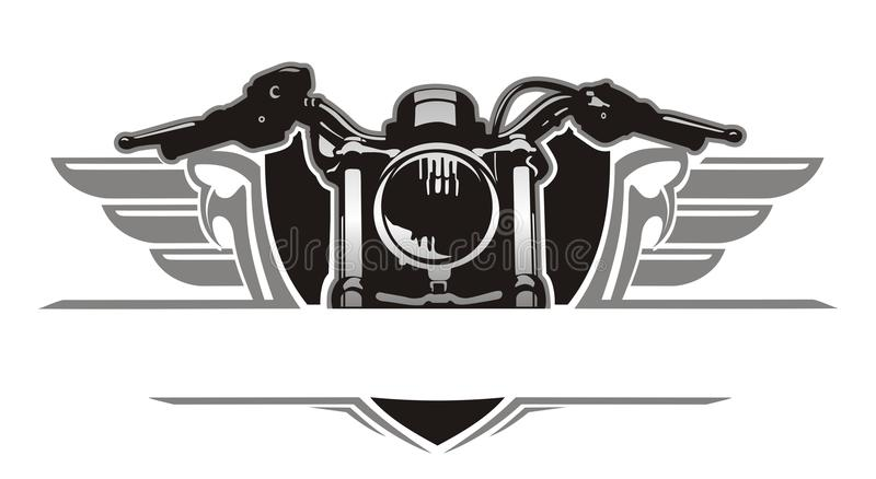 Motorcycle wing vintage stock photography