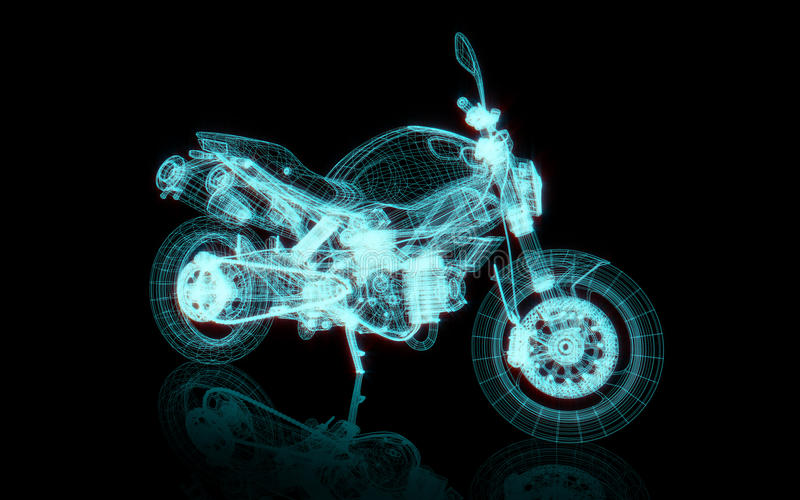 Motorcycle wire frame vector illustration