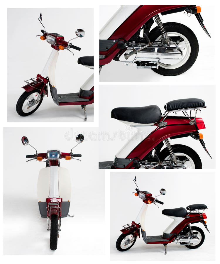 Motorcycles. Motorcycle on white background (close-up stock images