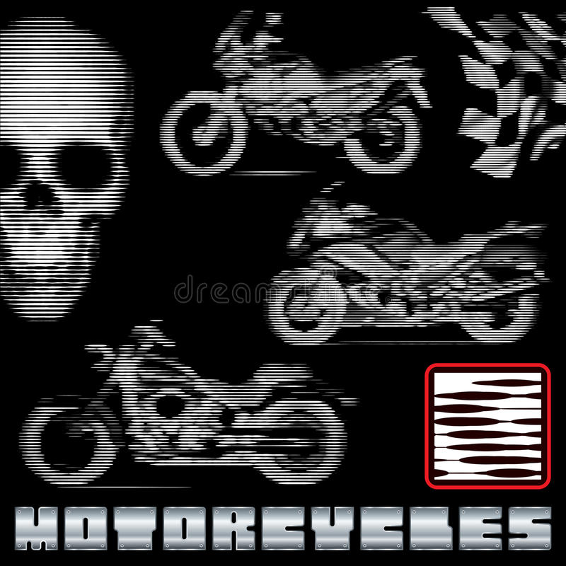 Download Motorcycles in lines stock vector. Image of cycle, fieldwork - 28794105