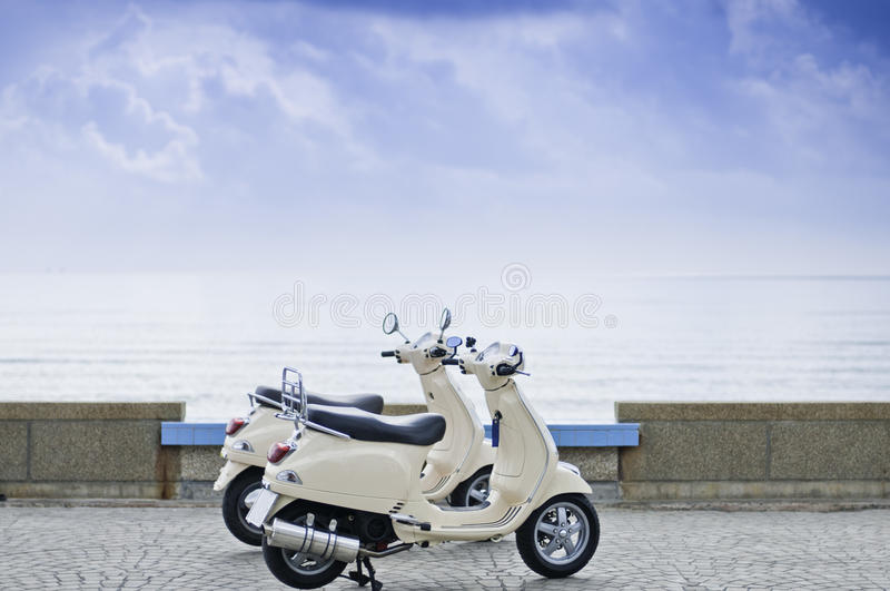 Download Motorcycles by the Sea stock image. Image of boat, restored - 24381965