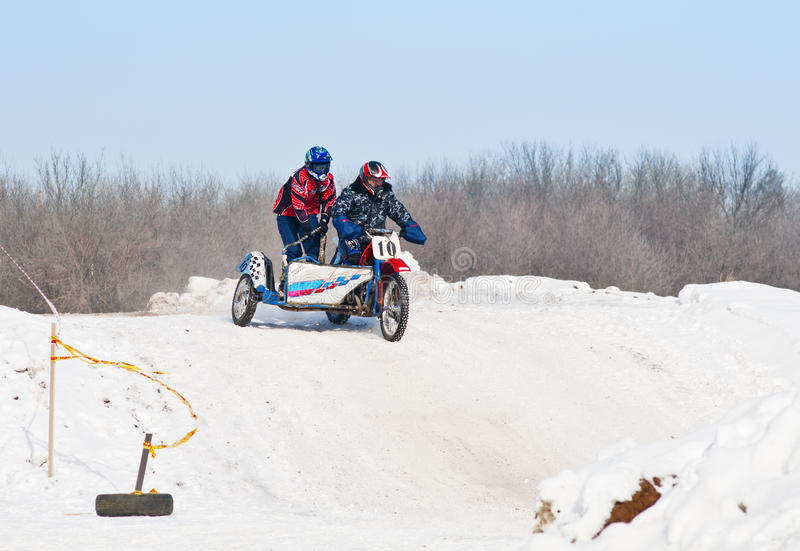 motorcycling Мотоциклы гонки с sidecars стоковое фото rf