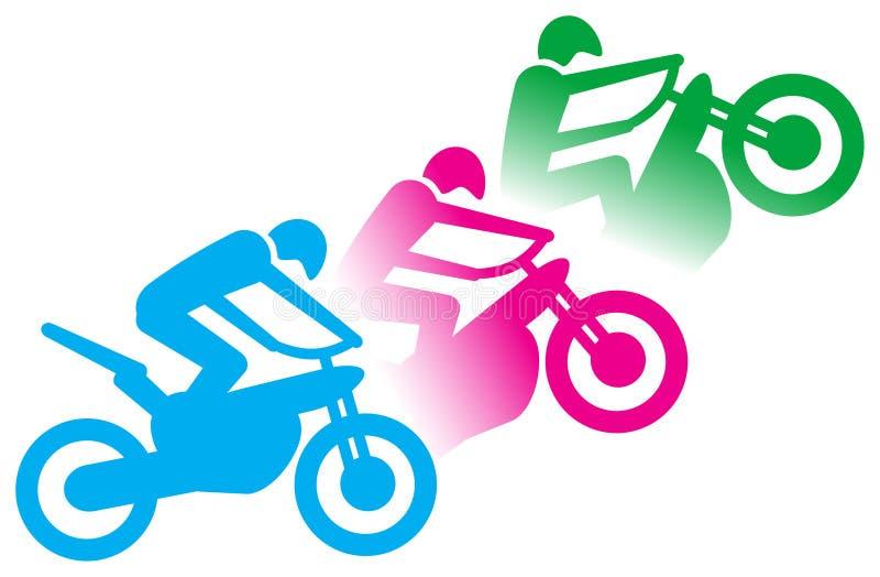 motorcyclist vektor illustrationer