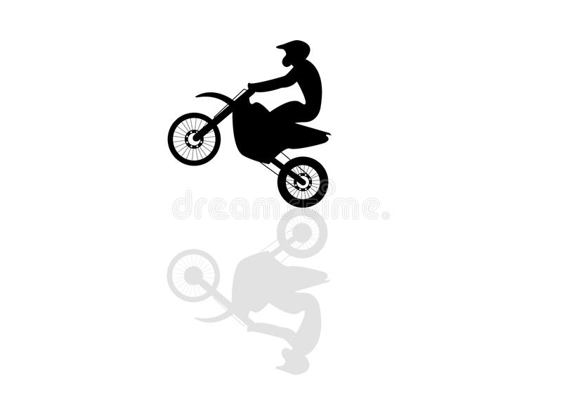 Motorcyclist royalty free illustration