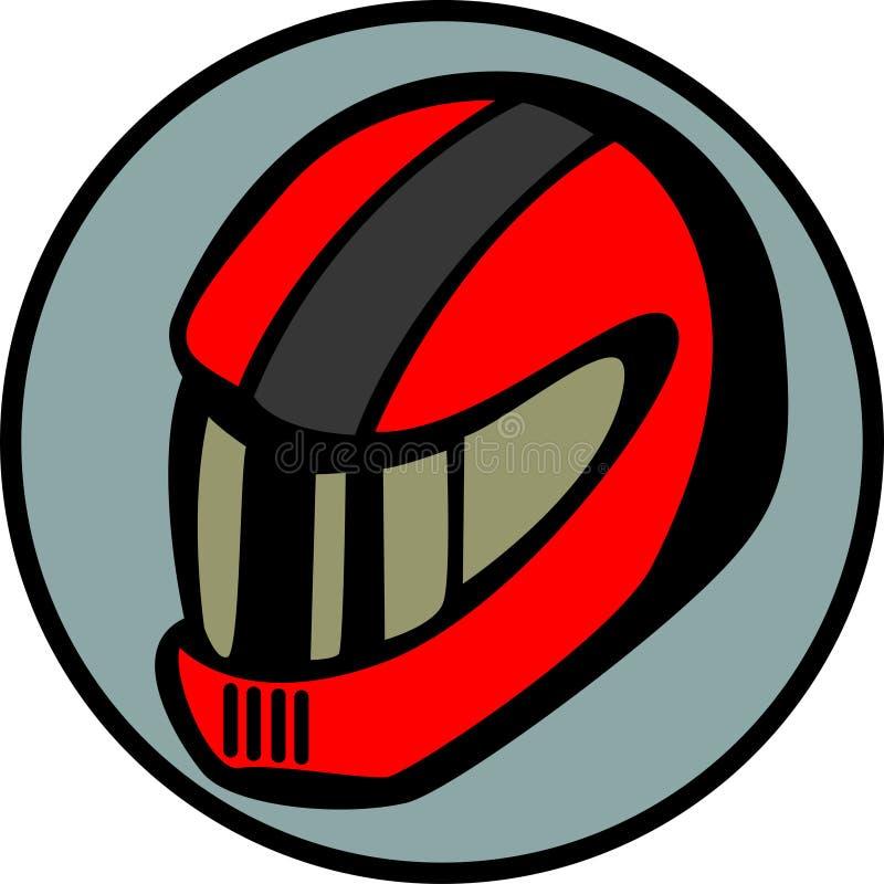 motorcyclist or car driver racing helmet vector stock
