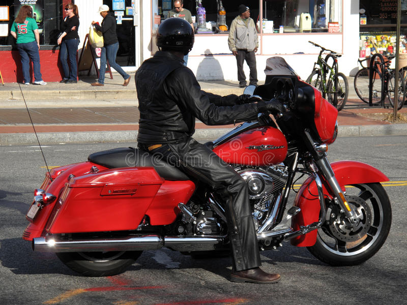 motorcyclist connecticut бульвара стоковые фото