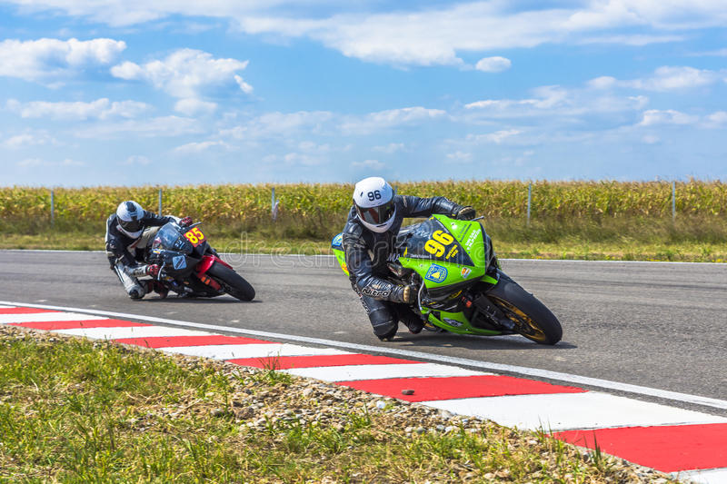 Motorcyclist Racing royalty free stock images