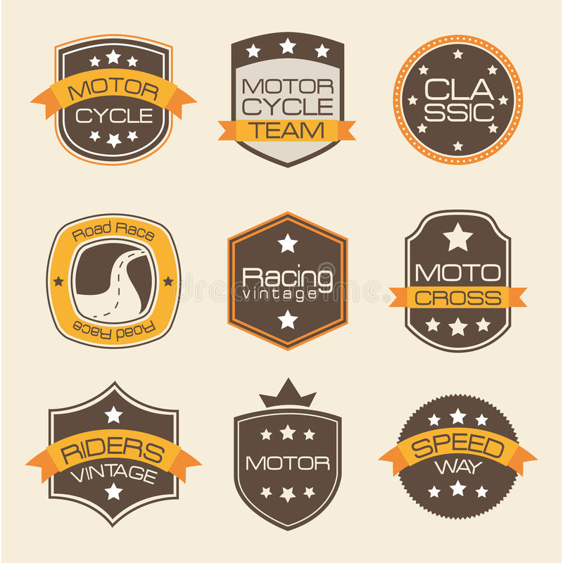 Motorcyclists seals. Over pink background vector illustration vector illustration