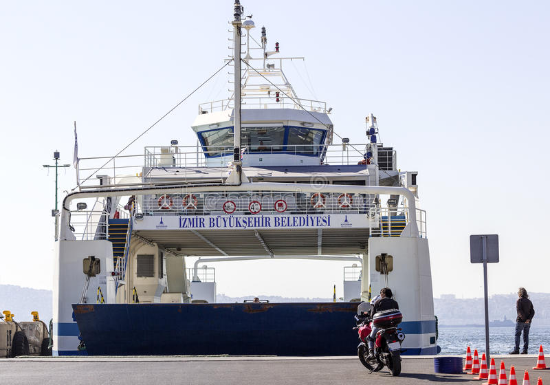 Motorcyclists Waiting for Ferry stock images
