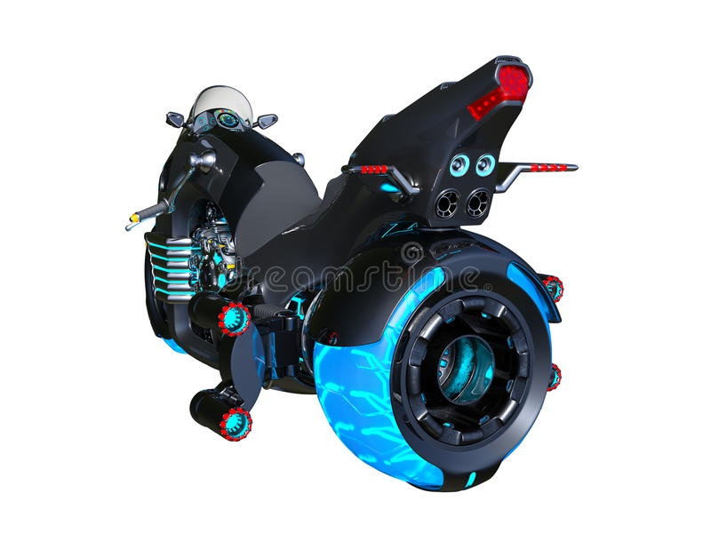 motorcykel stock illustrationer