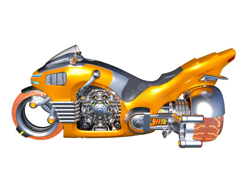 motorcykel vektor illustrationer
