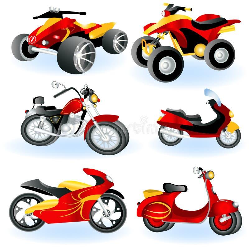motorcykel för 2 symboler royaltyfri illustrationer