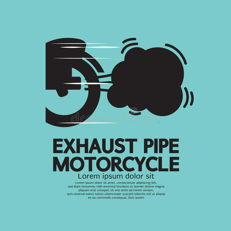Motorcykel för avgasrörrör vektor illustrationer