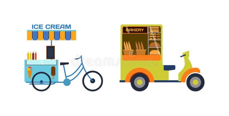 Motorcykel för cykel för leveranstransportmoto royaltyfri illustrationer