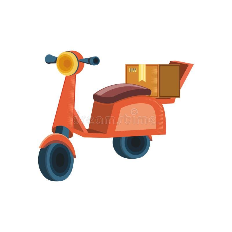 Motorcykel för logistisk service för leverans vektor illustrationer