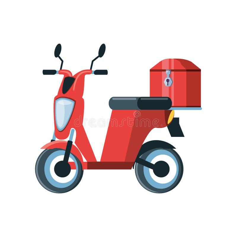 Motorcykel för logistisk service för leverans royaltyfri illustrationer