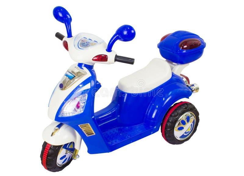 Motorcykel för ungeritt på trehjulingbarncykeln stock illustrationer