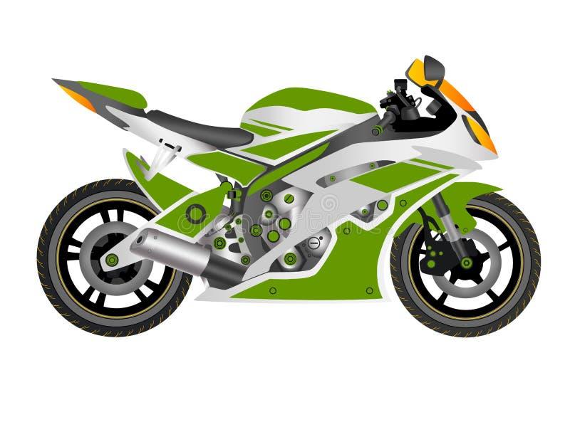 MOTORCYKEL I VEKTOR vektor illustrationer