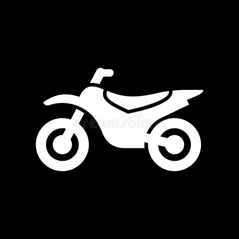 Motorcykel illustration för vektor för mopedsymbol enkel plan royaltyfri illustrationer