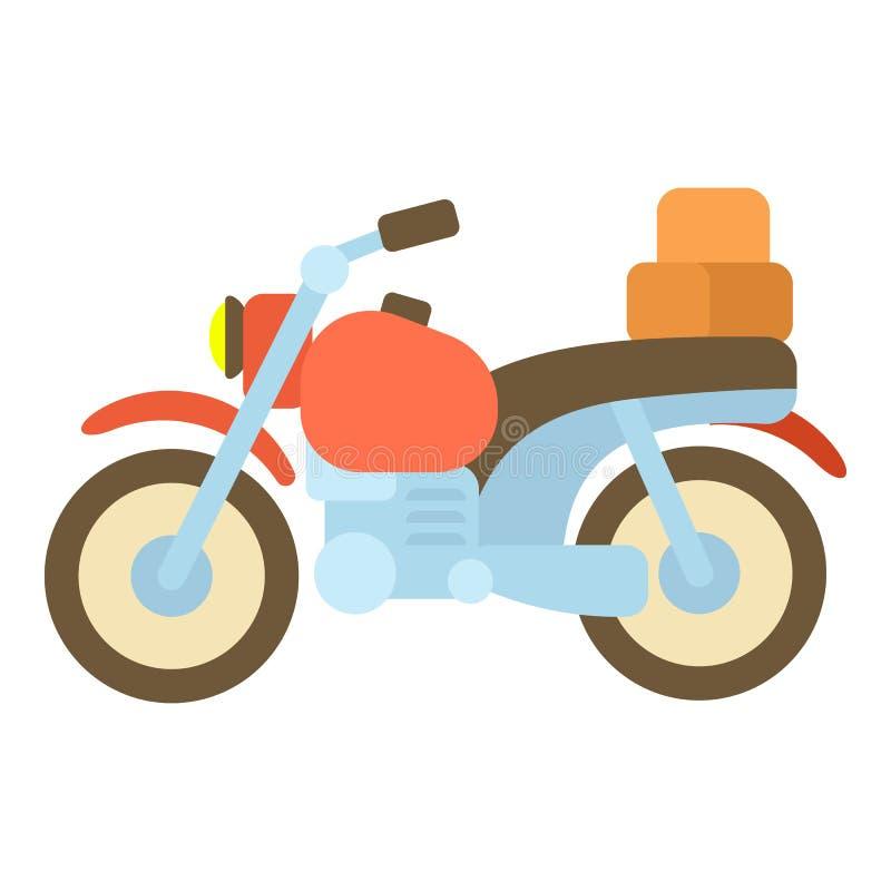 Motorcykel med askar symbol, tecknad filmstil stock illustrationer