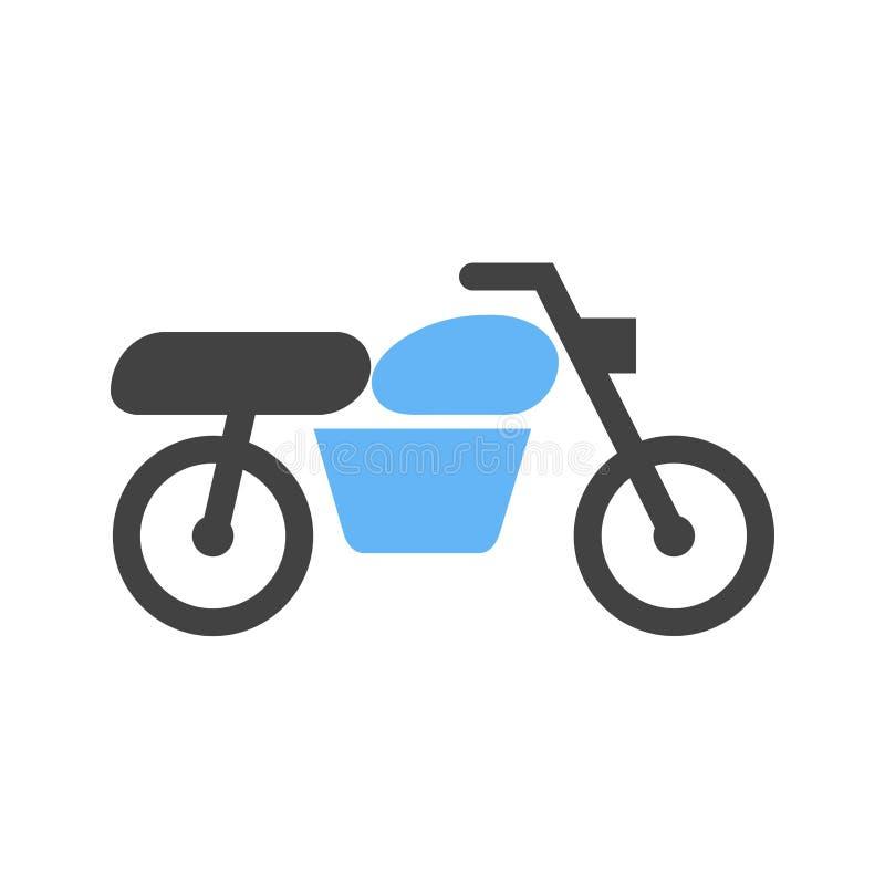 Motorcykel moped, trans. royaltyfri illustrationer