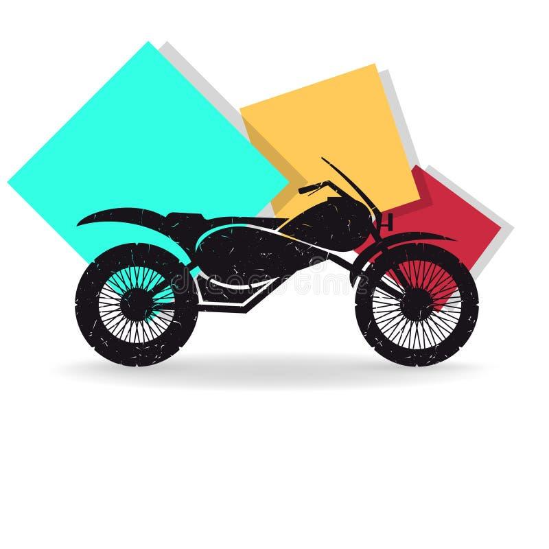 motorcykel också vektor för coreldrawillustration stock illustrationer