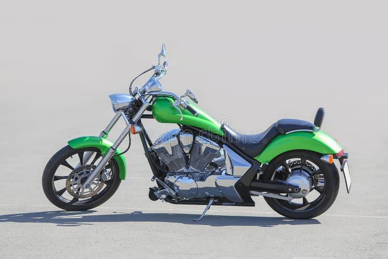Motorcykel på asfalt arkivfoton