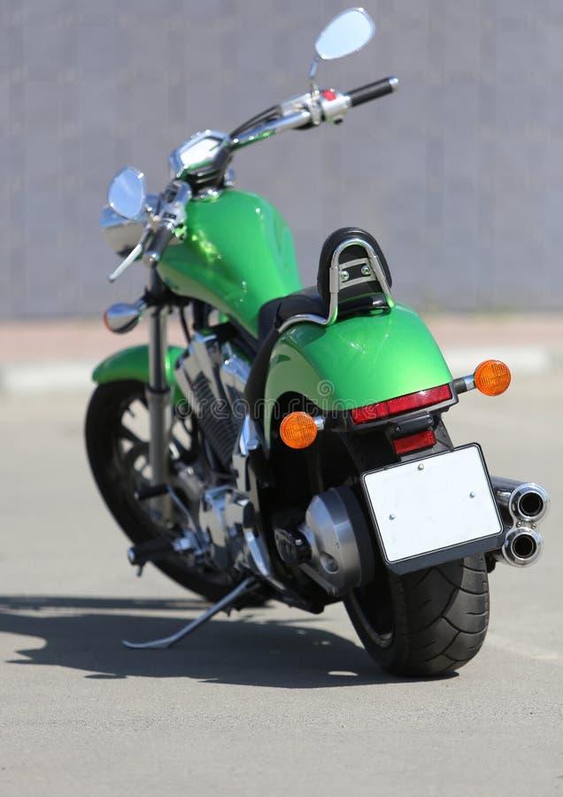 Motorcykel på asfalt royaltyfria bilder