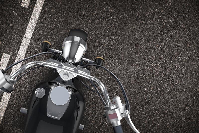 Motorcykel på vägen stock illustrationer