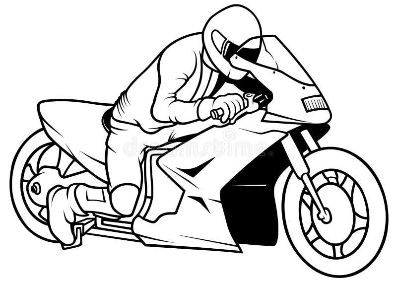 Motorcykel Racing stock illustrationer