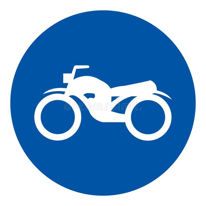 Motorcykel som parkerar symboltecknet, vektorillustration, isolat på den vita bakgrundsetiketten EPS10 vektor illustrationer